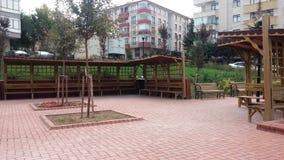 Wartebereich im Park Stockfoto