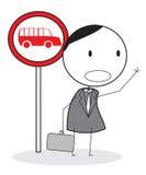 Wartebus Lizenzfreie Abbildung
