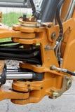 Wartel en hydraulische slangen op een tractor royalty-vrije stock foto's