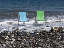 Warten auf den Sommer, Ligurien, Italien Stockbild