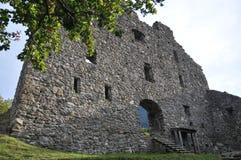 Wartenstein城堡废墟 库存图片