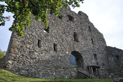 Wartenstein Castle Ruin. Is located in Pfäfers, Switzerland. It is an old, historic ruin which can still get visited today Stock Images