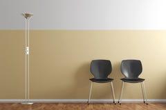 Warteraum mit Stühlen Lizenzfreie Stockfotografie