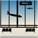 Warteraumflughafen Stockfoto