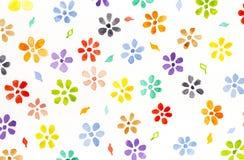 Wartercolor blommor Arkivfoto
