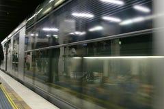 Warteuntergrundbahn Stockbild