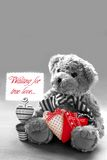 Wartezutreffende Liebe des Teddybären Stockfoto