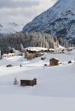 Warth-Schrocken, in Österreich Stockfotos