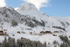 Warth-Schrocken, en Austria Foto de archivo libre de regalías