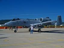 A-10 Warthog的侧视图 库存照片