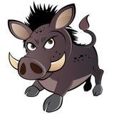 Warthog fâché de dessin animé Image libre de droits