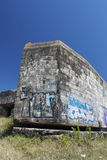 Wartime Bunkers, Brittany, France. Wartime Bunkers painted and graffiti Stock Image