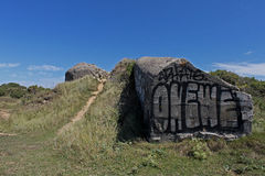 Wartime Bunkers, Brittany, France Stock Photo