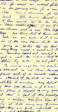 Wartime diary handwriting Stock Images