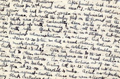 Wartime diary handwriting royalty free stock photos