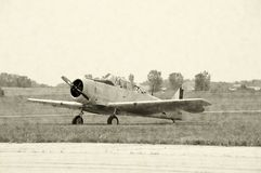 Wartime fighter airplane Royalty Free Stock Photos