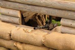 Wartime Gun Emplacement. Stock Image