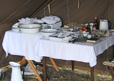 Wartime Medical Tent. Stock Photo