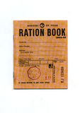 1944-45 Wartime Ration Book. A vintage wartime rationing book from 1944-45 Stock Image