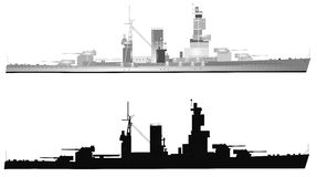 Wartime ships. Ship in 2 styles from world war 2 over white Royalty Free Stock Image