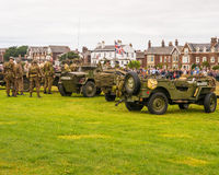 Wartime vehicles and bikes Royalty Free Stock Photography