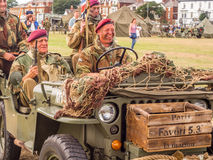 Wartime vehicles and bikes Stock Photo