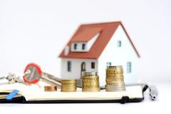 Wartość nieruchomości lub nieruchomości sprzedaży ewolucja Zdjęcia Stock