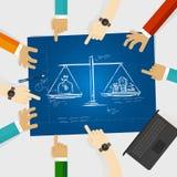Wartości porównania hipoteki obliczenie wartości i sprawiedliwość pieniądze zarządzania długu własności dom ceni inwestycję Obraz Royalty Free