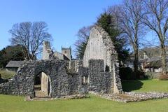 Warton老神父寓所, 14世纪石房子 免版税库存图片