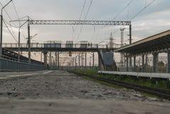 Wartung den Zug, zum weg zu reiten stockbilder