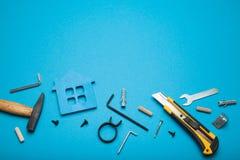 Wartungseigentum, Architektenhintergrund Kopieren Sie Raum f?r Text lizenzfreies stockbild