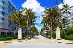 Warty aleję, palm beach, Floryda, Stany Zjednoczone Obraz Stock