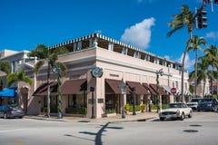 Warty aleję w Luksusowy palm beach, Floryda Zdjęcie Stock