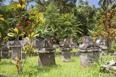Waruga ou sarcophages en pierre Image stock