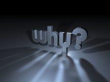 Warum? Stockbild