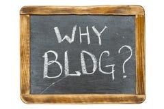 Warum Blog Franc Lizenzfreies Stockbild