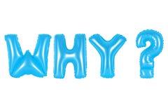 Warum, Frage, blaue Farbe Lizenzfreie Stockbilder
