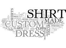 Warum Männer kundenspezifisches kaufen sollten, kleiden Sie Shirtsword-Wolke Stockbild
