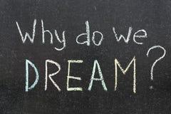 Warum wir träumen Stockbild