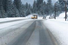 warunki jeździ zimę Obrazy Royalty Free