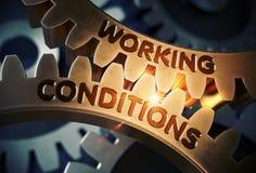 Warunki Pracy na Złotych Cog przekładniach ilustracja 3 d ilustracji