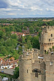 warwick взгляда замока известное Стоковое Изображение