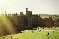 Warwick, двор замка Warwick, Великобритания, May5,2018 стоковое фото