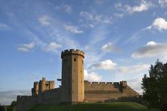 warwick замока драматическое нижнее Стоковые Фотографии RF