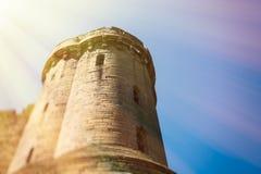 Warwick, замок Warwick, Великобритания, May5,2018 Башня замка стоковые фото