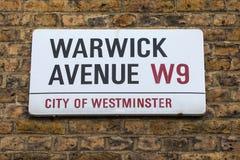 Warwick Avenue in West London Royalty Free Stock Image