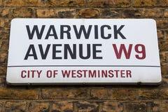 Warwick Avenue in West London Stock Photography