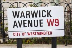 Warwick Avenue in West London Stock Photos