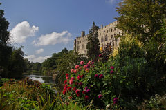 Warwick Castle. Taken from the Mill Gardens stock images