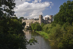 Warwick Castle. Taken from the Mill Gardens stock photos